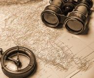 海洋冒险家的笔记 库存照片