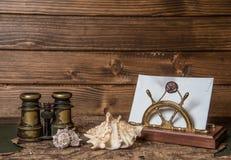 海洋冒险家的笔记 免版税库存照片