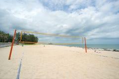 海滩净掌上型计算机沙子排球 库存照片