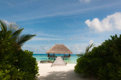 海滩别墅 免版税库存图片
