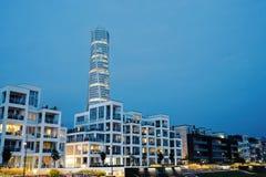 海滩前的Malmö 免版税库存照片