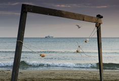 海洋剪影 免版税库存照片