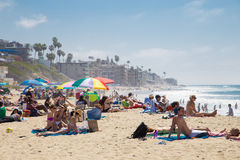 海滩加利福尼亚拉古纳 库存照片