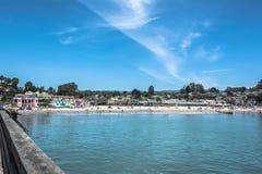 海滩加利福尼亚capitola 免版税图库摄影