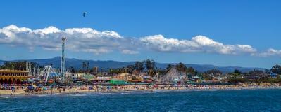 海滩加利福尼亚cruz圣诞老人 库存照片
