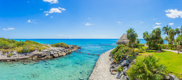 海滩加勒比墨西哥 库存照片