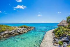海滩加勒比墨西哥 免版税库存图片