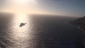 海洋从直升机上的风景视图在新西兰 影视素材