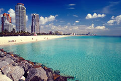 海滩南的迈阿密 免版税库存照片