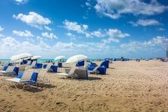 海滩南的迈阿密 免版税库存图片
