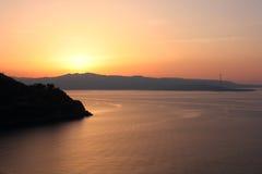 海滩卡拉布里亚意大利scilla视图 库存图片