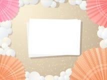 海滩卡片 免版税库存照片
