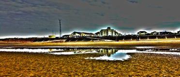 海滩反射 免版税图库摄影