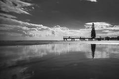 海滩反射 免版税库存图片