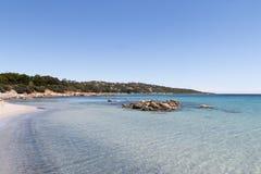 海滩可西嘉岛 免版税库存图片