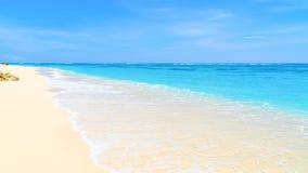 海滩含沙热带 免版税图库摄影