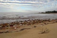 海滩和云彩 库存图片