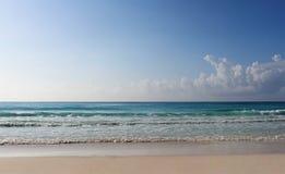 海滩和加勒比海,例证 免版税库存照片