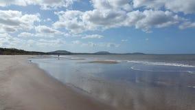 海滩和宁静,蒙得维的亚,乌拉圭 库存图片