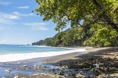 海滩和密林在哥斯达黎加 免版税库存照片