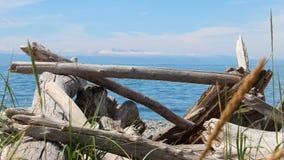 海洋和山景城 免版税库存图片