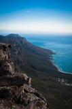 海洋和山 库存图片