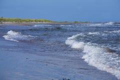 海洋和沙子beach.GN 免版税库存照片