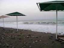 海滩和海波浪 库存图片