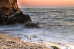 海滩和海 免版税库存照片