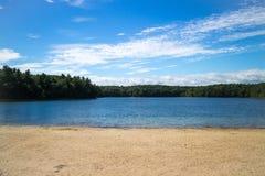 海滩和湖 库存图片