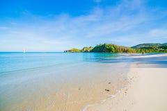 海滩和热带海 库存照片