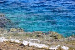海水和珊瑚礁背景 免版税库存图片