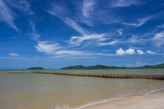 海滩和蓝色 库存照片