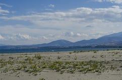 海滩和黑海,萨姆松海边市,土耳其 库存照片