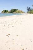 海滩和ligthouse 库存图片
