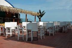 海滩咖啡馆俱乐部潜水 库存照片