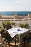 海滩咖啡馆 库存图片