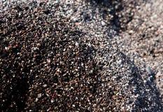 黑海滩圣托里尼 免版税库存照片