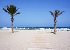 海滩圣胡安看法  图库摄影