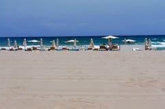 海滩圣胡安看法  免版税库存照片