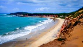 海滩在东北巴西 免版税库存照片