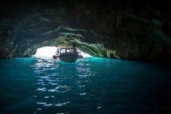 海洞在亚得里亚海,黑山 免版税库存照片