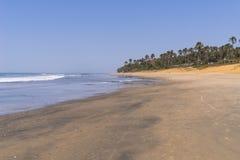 海滩在冈比亚 免版税库存图片