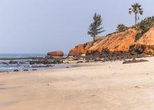 海滩在冈比亚 免版税库存照片