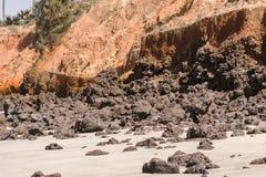 海滩在冈比亚 库存图片