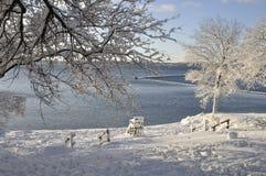 海滩在冬天 图库摄影