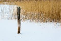 海滨在冬天 免版税图库摄影