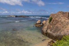 海洋在加勒 免版税库存照片