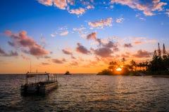 海滩在努美阿,新喀里多尼亚 库存图片