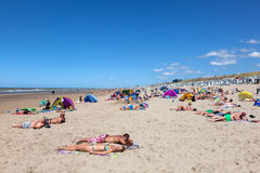 海滩在北荷兰省 库存图片